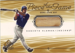 2001 SP Game Bat Edition Piece of the Game #RA Roberto Alomar