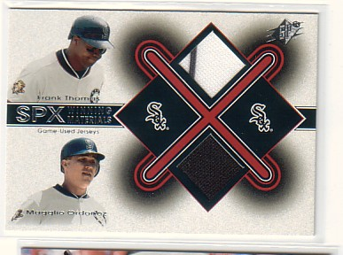 2001 SPx Winning Materials Update Duos #FTMO Frank Thomas/Magglio Ordonez