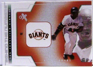 2002 E-X Behind the Numbers #5 Barry Bonds