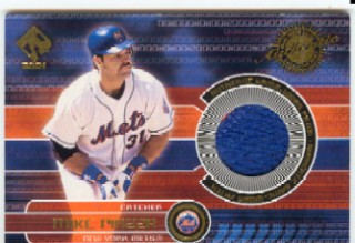 2001 Private Stock Game Jersey Patch #119 Mike Piazza