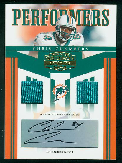 2006 Donruss Gridiron Gear Performers Jerseys Combos Autographs #39 Chris Chambers/5