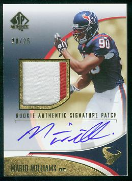 2006 SP Authentic Gold #245 Mario Williams JSY AU