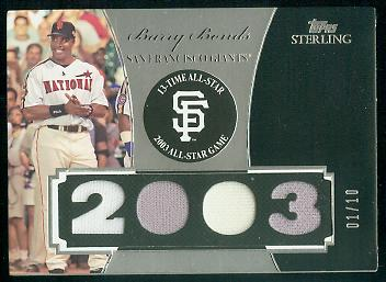 2006 Topps Sterling Moments Relics #BBAS12 Barry Bonds 2003