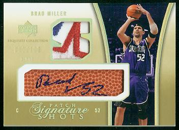 2004-05 Exquisite Collection Signature Shots Patches #BM Brad Miller