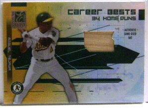 2003 Donruss Elite Career Bests Materials #20 Miguel Tejada HR Bat