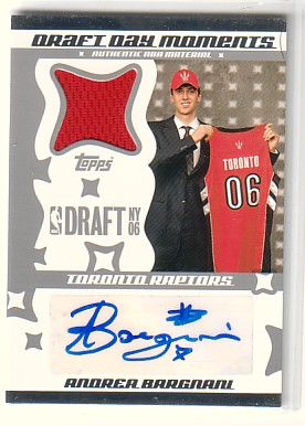 2006-07 Topps Big Game Draft Day Moments Jerseys Autographs #AB Andrea Bargnani