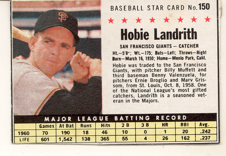 1961 Post #150B Hobie Landrith BOX
