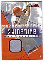 2005 Fleer Showcase Swing Time Jersey Red #AP Albert Pujols