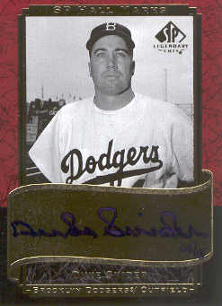 2003 SP Legendary Cuts Hall Marks Autographs #DS2 Duke Snider Blue/15 front image