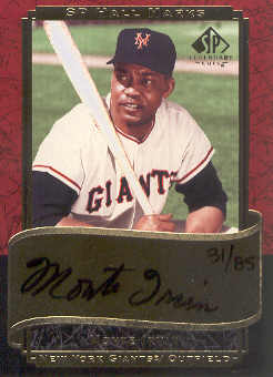 2003 SP Legendary Cuts Hall Marks Autographs #MI1 Monte Irvin Black/85