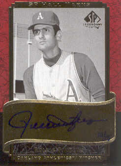 2003 SP Legendary Cuts Hall Marks Autographs #RF2 Rollie Fingers Blue/15 front image