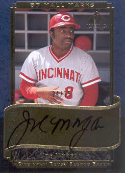 2003 SP Legendary Cuts Hall Marks Autographs Blue #JO Joe Morgan front image