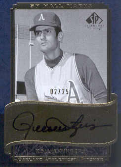 2003 SP Legendary Cuts Hall Marks Autographs Blue #RF Rollie Fingers