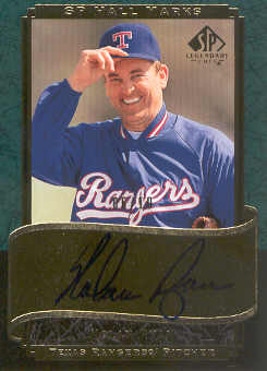 2003 SP Legendary Cuts Hall Marks Autographs Green #NR Nolan Ryan