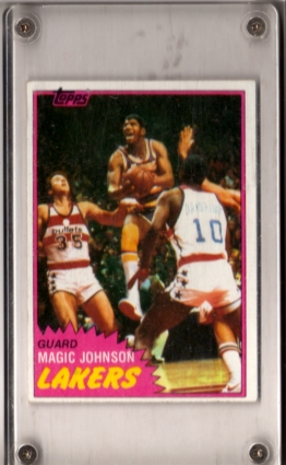 1981-82 Topps #21 Magic Johnson !