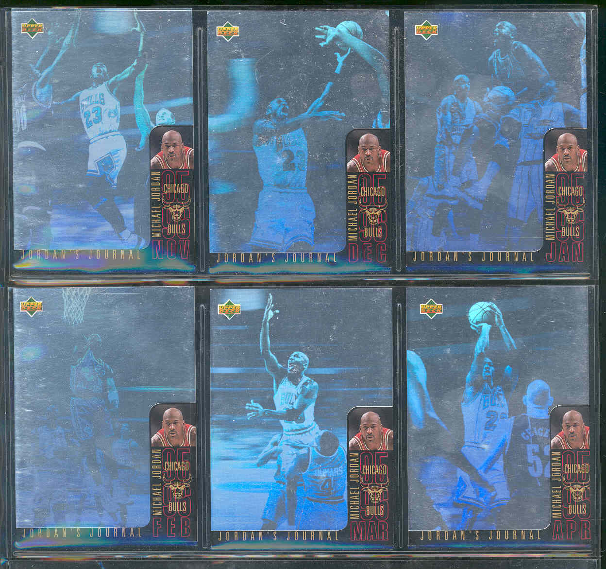 1996-97 Collector's Choice Int'l German Jordan's Journal Complete Set Beckett Value $75