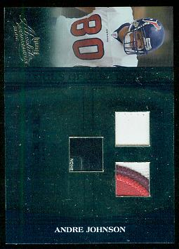 2006 Absolute Memorabilia Tools of the Trade Material Triple Blue #7 Andre Johnson/20