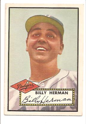 1952 Topps #394 Billy Herman CO front image