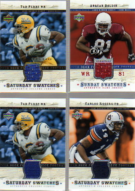 2005 Upper Deck Rookie Debut Saturday Swatches #SACR Carlos Rogers