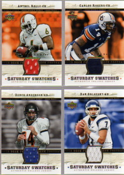 2005 Upper Deck Rookie Debut Saturday Swatches Limited #SADA Derek Anderson