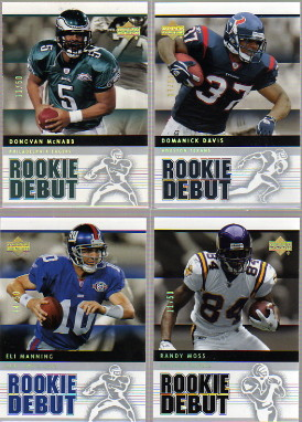 2005 Upper Deck Rookie Debut Gold Spectrum #71 Randy Moss
