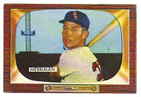 1955 Bowman #135 Lloyd Merriman front image