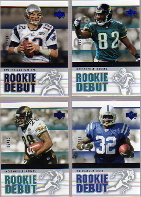 2005 Upper Deck Rookie Debut Blue #57 Tom Brady
