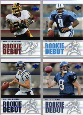 2005 Upper Deck Rookie Debut Blue #80 Drew Brees