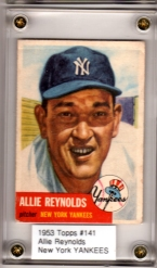 1953 Topps #141 Allie Reynolds DP