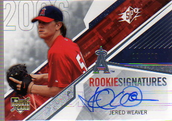 2006 SPx #102 Jered Weaver AU/299 (RC)