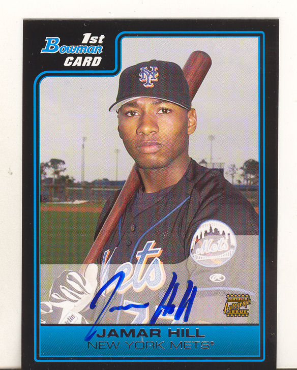 2006 Bowman Prospects #B118 Jamar Hill AU