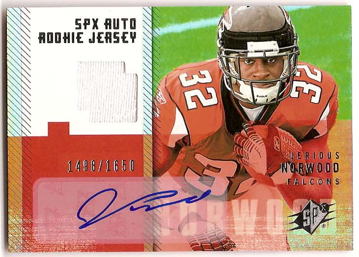 2006 SPx #206 Jerious Norwood JSY AU RC