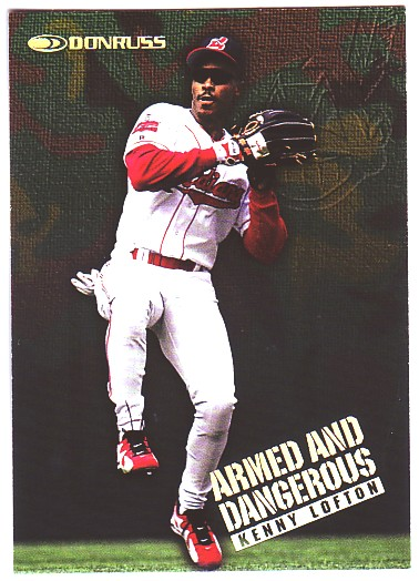 1997 Donruss Armed and Dangerous #9 Kenny Lofton