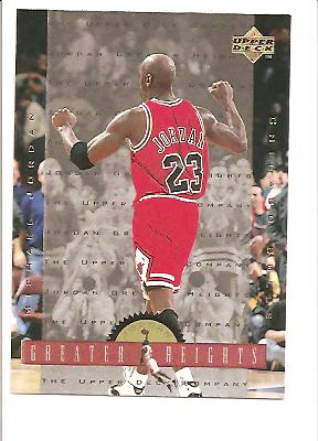 1996-97 Upper Deck Jordan Greater Heights #GH9 Michael Jordan/Excitement