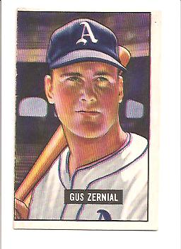 1951 Bowman #262 Gus Zernial