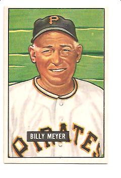1951 Bowman #272 Billy Meyer MG RC