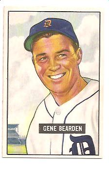 1951 Bowman #284 Gene Bearden