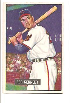1951 Bowman #296 Bob Kennedy RC