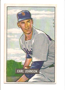 1951 Bowman #321 Earl Johnson