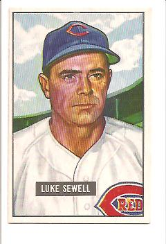 1951 Bowman #322 Luke Sewell MG