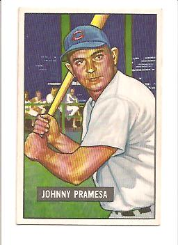 1951 Bowman #324 Johnny Pramesa RC