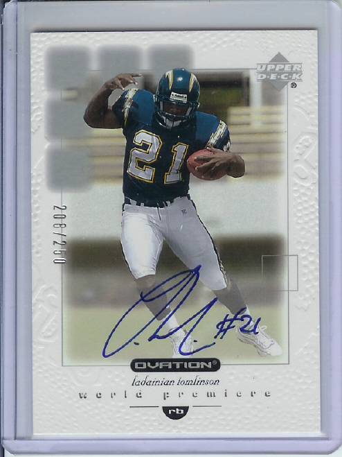 2001 Upper Deck Ovation Rookie Autographs #146 LaDainian Tomlinson