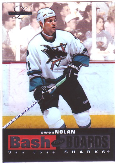 1996-97 Leaf Limited Bash The Boards #3 Owen Nolan
