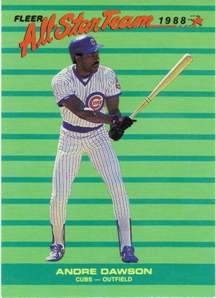 1988 Fleer All-Stars #6 Andre Dawson