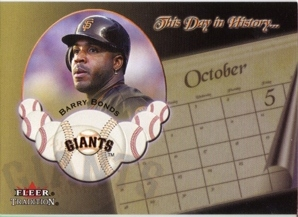 2002 Fleer Tradition This Day in History #2 Barry Bonds
