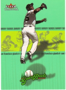 2002 Fleer Tradition Grass Roots #1 Barry Bonds