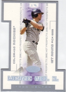 2002 Hot Prospects We're Number One #TH Todd Helton