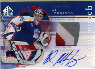 2005-06 SP Authentic Limited #170 Al Montoya PATCH AU