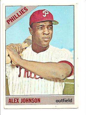 1966 Topps #104A Alex Johnson Trade