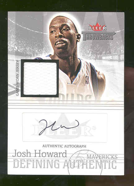 2004-05 Fleer Throwbacks Defining Authentic Jerseys Autographs Silver #JH Josh Howard/149